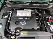 A VQ35DE engine shown here in a 2007 Nissan Maxima.