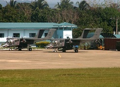 PAF OV-10 Broncos parked at PAF detachment, Lumbia Airport