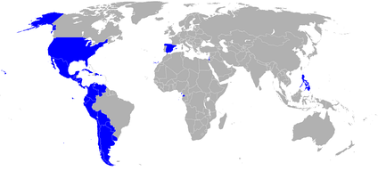 Countries with a Spanish language academy