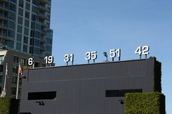 Padres retired numbers, including Garvey's No. 6, at Petco Park