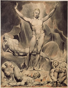 Satan Arousing the Rebel Angels (c. 1808) by William Blake, an illustration of John Milton's Paradise Lost