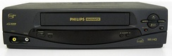 A typical Philips Magnavox VCR.