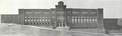 The Pottsville Area High School in 1932 after completion on the current site