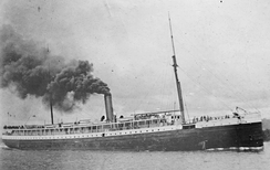 The passenger steamship Columbia.