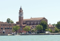 The church of San Nicolò al Lido in Venice claims to hold roughly 500 bone fragments from Nicholas's skeleton,[85][69] which scientific examinations have confirmed are anatomically compatible with the bones in the Basilica di San Nicola in Bari.[85][74]