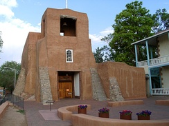 San Miguel Chapel in Santa Fe is said to be the oldest standing church structure in the U.S. The adobe walls were constructed around A.D. 1610.