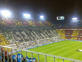 Tifo at Mestalla stadium