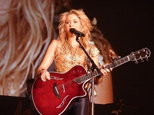 Shakira on her tour Sale el Sol World Tour in 2010
