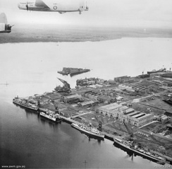 Singapore Naval Base was the largest British base east of the Suez Canal, completed in 1938
