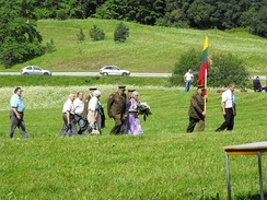 Lithuanian partisan veterans in 2009 at 65th anniversary of Battle of Tannenberg Line