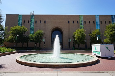 Willis Library, Onstead Plaza and Promenade, and Jody's Fountain