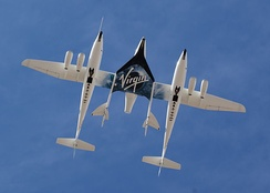 SpaceShipTwo is a major project in space tourism.