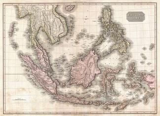 Map of the Dutch East Indies in 1818
