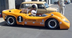 1968 McLaren M6B at the Laguna Seca Historics, 2009.