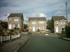 Abbeydale Oval. The house on the far left was extensively used in filming The Beiderbecke Affair.