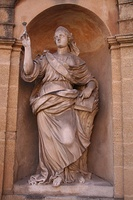 A statue of Deborah (1792) in Aix-en-Provence, France