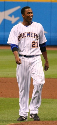 Escobar with the Milwaukee Brewers in 2009.