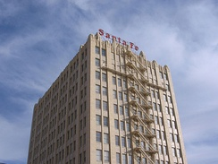 The Santa Fe Building in the downtown area