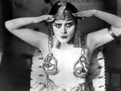 Theda Bara in one of the risqué outfits in Cleopatra (1917).