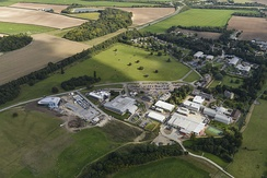 Aerial picture of the Babraham Research Campus in 2014