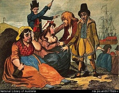 Women in Plymouth, England (Black-eyed Sue and Sweet Poll) mourning their lovers who are soon to be transported to Botany Bay (1792).