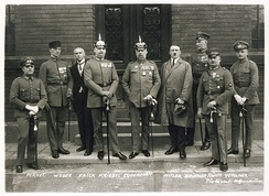 Ludendorff (center) with Hitler and other early Nazi leaders and prominent radical German nationalists, April 1924