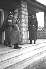 Heinrich Himmler inspecting the camp brothel in Mauthausen/Gusen