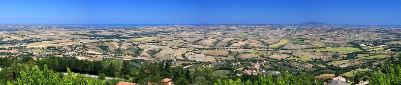 View of Marche countryside