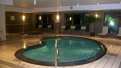 A courtyard Marriott pool in Albany, New York