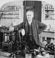 Thomas Edison was an American inventor, scientist, and businessman who developed many devices that greatly influenced life around the world, including the phonograph, the motion picture camera, and a long-lasting, practical electric light bulb.