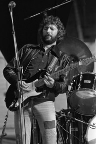 "Clapton with Blackie while on tour in the Netherlands, 1978. Clapton recorded hits such as ""Cocaine"", ""I Shot the Sheriff"", ""Wonderful Tonight"", ""Farther Up the Road"" and ""Lay Down Sally"" on Blackie"