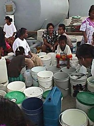 Water distribution on Marshall Islands during El Niño.