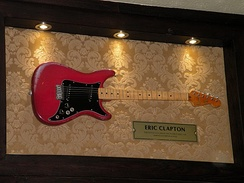 Clapton's Lead II Fender, the first ever piece of memorabilia donated to the Hard Rock Cafe, London in 1979