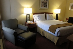 Guest room at IHG Army Hotel on Fort Gordon