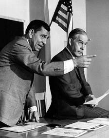 Morgan with Jack Webb in Dragnet