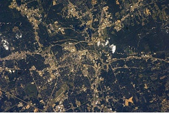 Photograph of Jackson Mississippi taken from the International Space Station