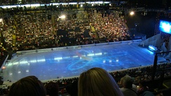 The arena in ice skating configuration