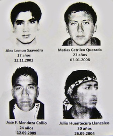 Mapuche activists killed in confrontations with the Chilean police in the 2000s.