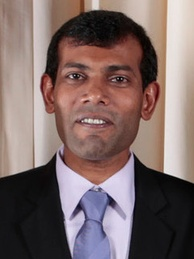 The ousted democratically elected president Mohamed Nasheed.