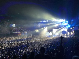 Qudos Bank Arena at full capacity during a Muse concert in December 2017