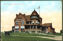 Many of the old soldiers' homes in the United States were constructed in high Victorian style, like the New Hampshire Soldiers' Home in Tilton, New Hampshire.