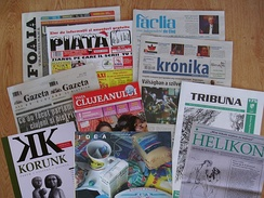 Hungarian- and Romanian-language newspapers published in Cluj-Napoca