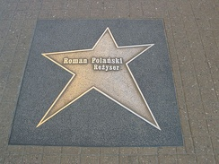 Polanski's star on the Łódź walk of fame