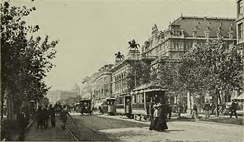 Vienna's Ring Road with the opera house, in 1905