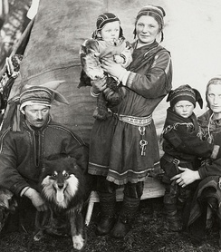 Sámi family in Lapland of Finland, 1936.