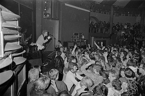 The Sex Pistols on stage at the Student Society in Trondheim, 1977