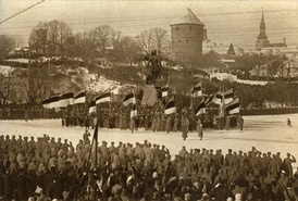 The first celebration of Estonian Independence Day in Tallinn on 24 February 1919