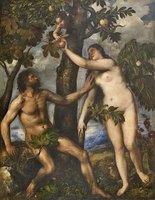 Adam and Eve by Titian, c. 1550