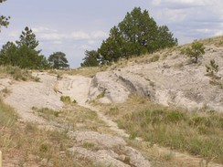 Trail ruts near Guernsey, Wyoming