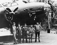 B-17E BO AAF S/N 41-9211  Typhoon McGoon II of the 11th BG / 98th BS, taken in January 1943 in New Caledonia: The antennae mounted upon the nose were used for radar tracking surface vessels.